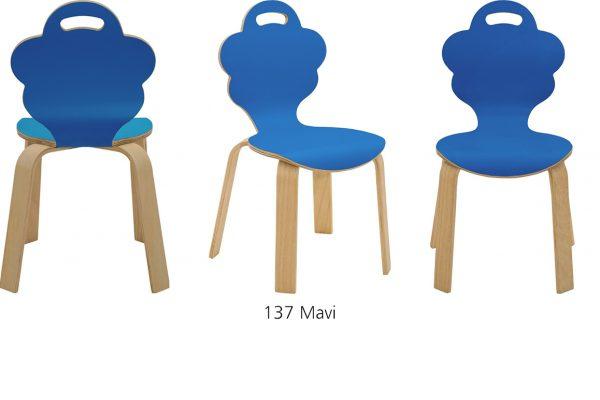Daisy Laminant Ahşap Çocuk Sandalyesi