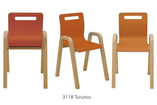 Anka Tek Renk Laminant Sandalye